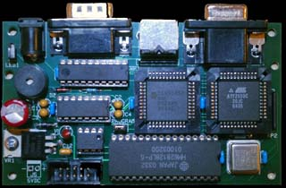 An assembled VT6 PC board.